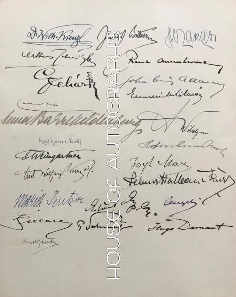 Autograph Sheet