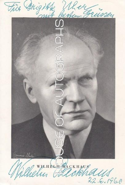 Backhaus Wilhelm